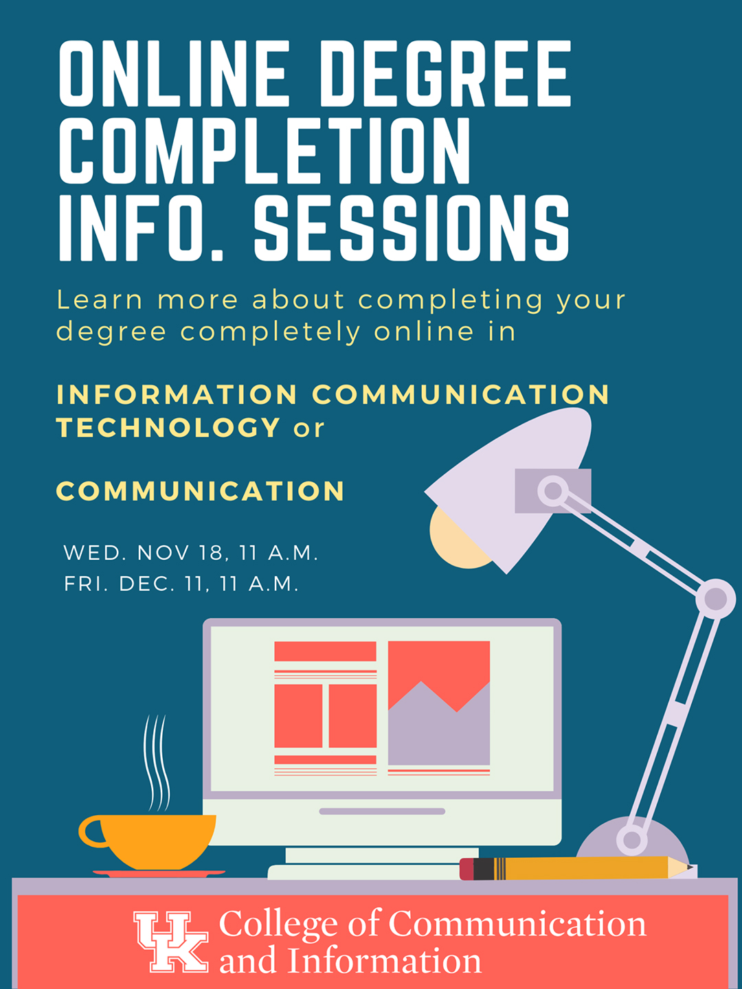 Online Degree Completion Info Sessions Flyer