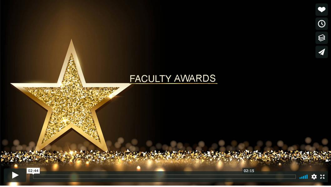 Faculty Awards Preview