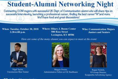 Student-Alumni Networking Night Flyer